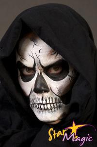 doodshoofd schmink skelet