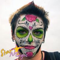 candy skull schmink